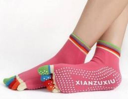 Носочки с цветными пальчиками для йоги_3