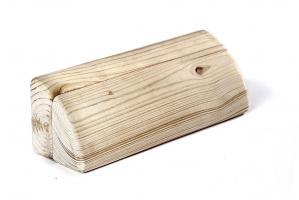 Йога блок полукруглый деревянный шлифованный