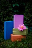 Опорный блок для йоги из EVA-пены плоский «Yoga Block»_3