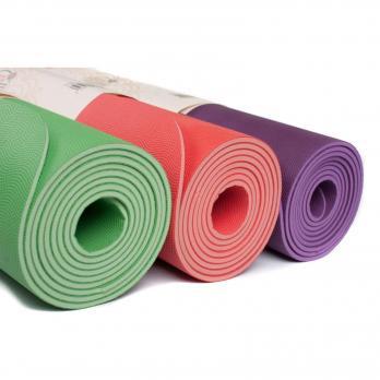 Коврик для йоги EcoPro Diamond из каучука