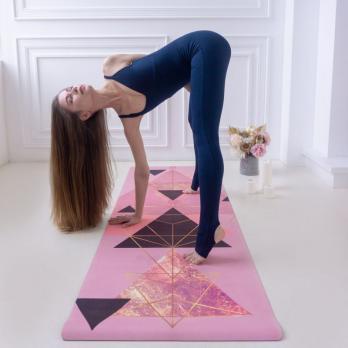 Коврик для йоги Rose Gold Yogamatic