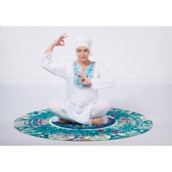 Круглый коврик для йоги Сапфир 140 х 140