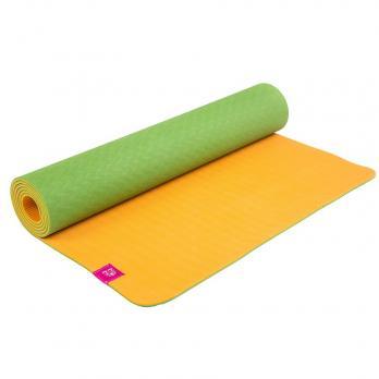 Коврик для йоги с разметкой DY Апельсин