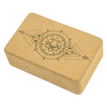 Пробковый йога блок Devi Yoga