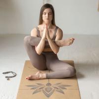Пробковый коврик для йоги Лотос Yogamatic_3