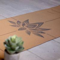 Пробковый коврик для йоги Лотос Yogamatic_1