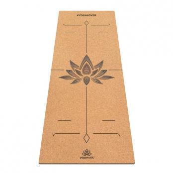 Пробковый коврик для йоги Лотос Yogamatic