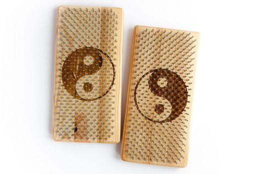 Доска йога Mini Инь-Янь из лиственницы