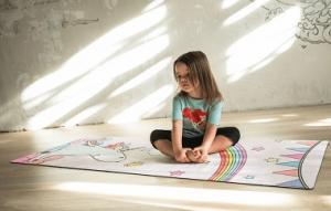 Коврик для йоги «Unicorn» детский 150х61 см_1