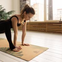 Пробковый коврик для йоги Тропик Yogamatic_1