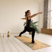 Пробковый коврик для йоги Тропик Yogamatic_2