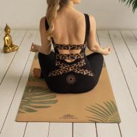 Пробковый коврик для йоги Тропик Yogamatic_3