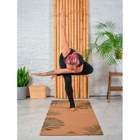 Пробковый коврик для йоги Тропик Yogamatic_4