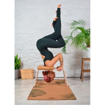 Пробковый коврик для йоги Тропик Yogamatic