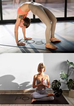 Коврик для йоги POSA Plain