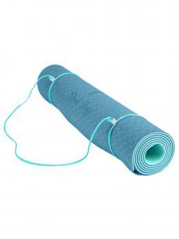 Коврик для йоги с разметкой DY Жимолость
