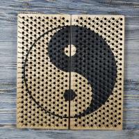 Складная доска садху с гвоздями рисунок Инь-янь