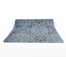 Йога коврик с рисунком Pattern синий