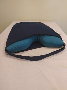 Подушка для медитации бирюзовая с сумкой