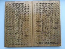 Доска садху из ясеня с гвоздями и рисунком Рефлексология
