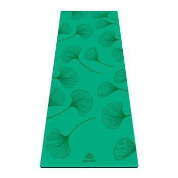 Коврик для йоги Yogamatic Leaf  синего цвета