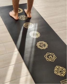 Коврик для йоги Yoga club Pro Chakras Gold