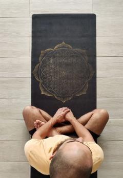 Коврик для йоги Flower Gold YC