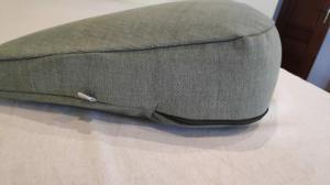 Подушка для медитации серо-зеленая