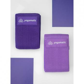 Тканевые фитнес ленты (комплект 2 штуки) Yogamatic