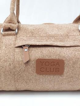 Пробковая cумка для йога коврика Yoga Club