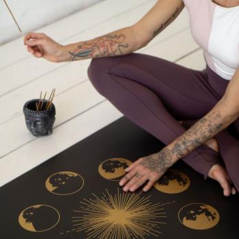 Коврик для йоги  SUN&MOON GOLD Yogamatic