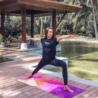 Коврик для йоги TRIANGLES Yoga club_2