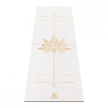 Удлинённый коврик для йоги Lotos White Yogamatic