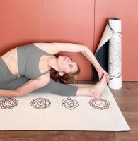 Коврик для йоги Pro Chakras Gold Yoga club_5