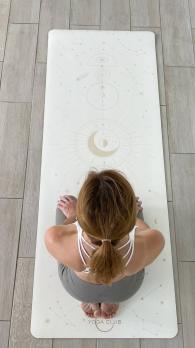 Профессиональный коврик для йоги PRO Munari White Yoga Club