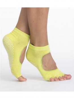 Носочки для йоги с вырезом и открытыми пальчиками Bradex